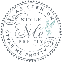 As seen on Style Me Pretty feature badge