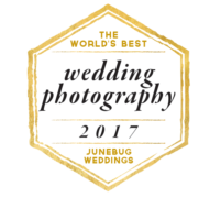 World's Best Wedding Photography badge Junebug Weddings