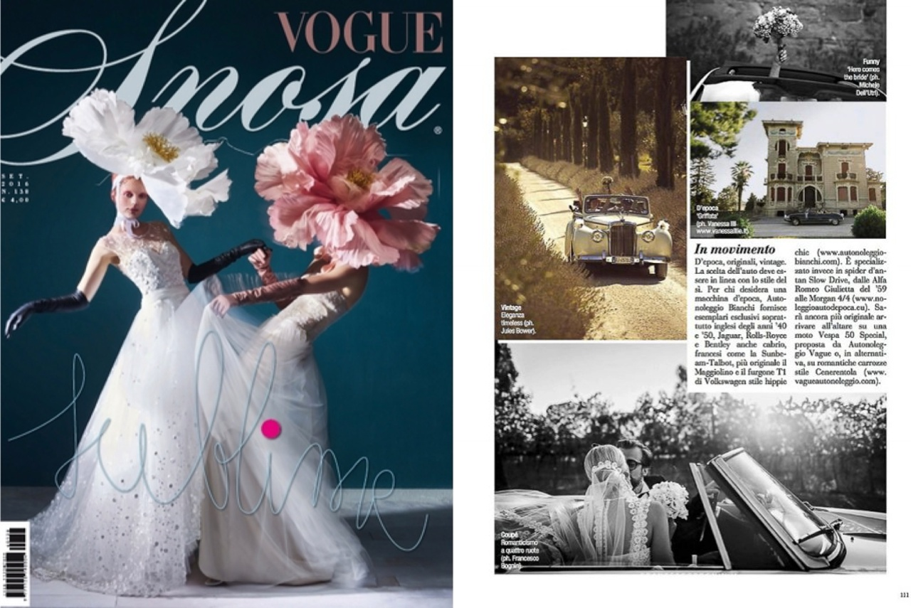 Vogue Sposa cover and spread including photos from Francesco Bognin Luxury wedding photographer photography in Italy